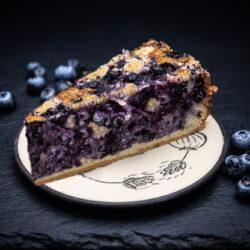 Drobenkový koláč s borůvkami